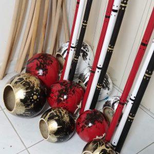 black painted berimbau bateria for capoeira with berimbau bag and all berimbau parts