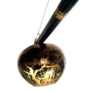 Painted Berimbau (Black+Gold)