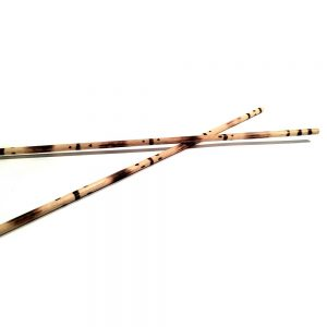 Pyrographic baqueta for capoeira berimbau instrument