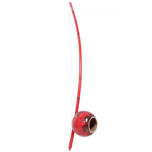 Painted berimbau instrument for capoeira red black style