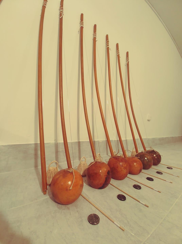 Kids size berimbau for capoeira instrument