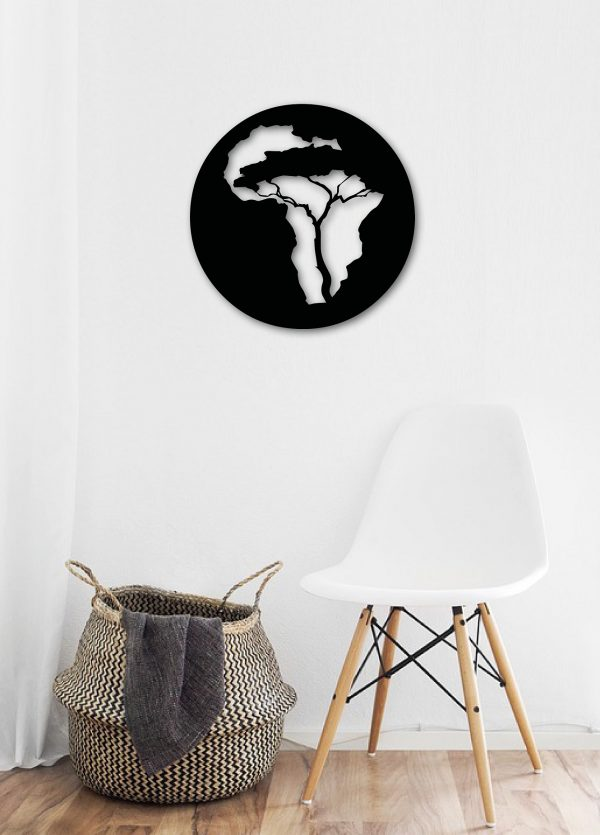 Africa metal wall art for capoeira lovers from berimbau shop