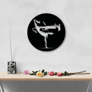 Beija Flor metal wall art for capoeira lovers from berimbau shop