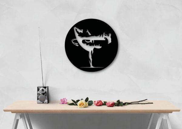 Beija Flor metal wall art for capoeira lovers from berimbau shop