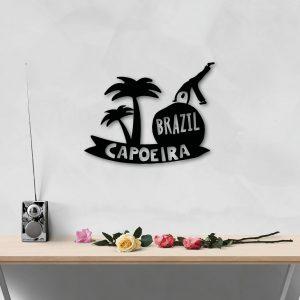 Capoeira Brazil Metal Art Wall Decor 50cm