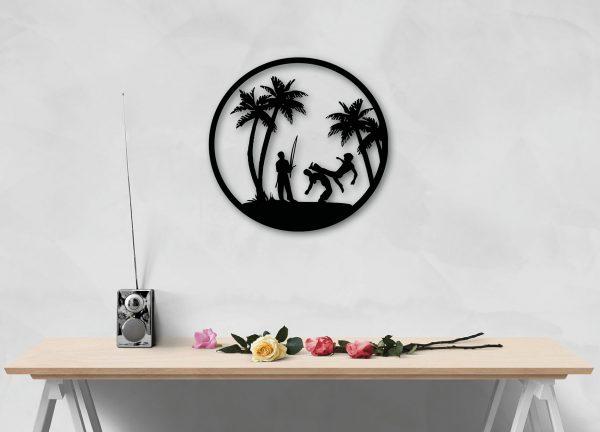 Copacabana metal wall art for capoeira lovers from berimbau shop