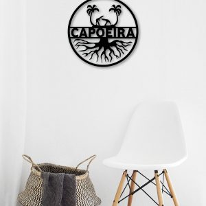 Capoeira Roots Metal Art Wall Decor 50x50cm