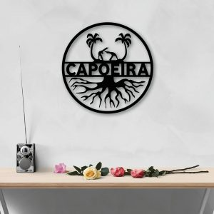 Capoeira Roots metal wall art for capoeira lovers from berimbau shop
